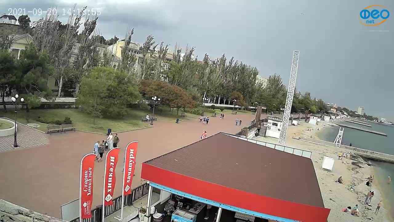 Веб-камеры Феодосии, Пляж Камешки, 2021-09-20 14:19:18