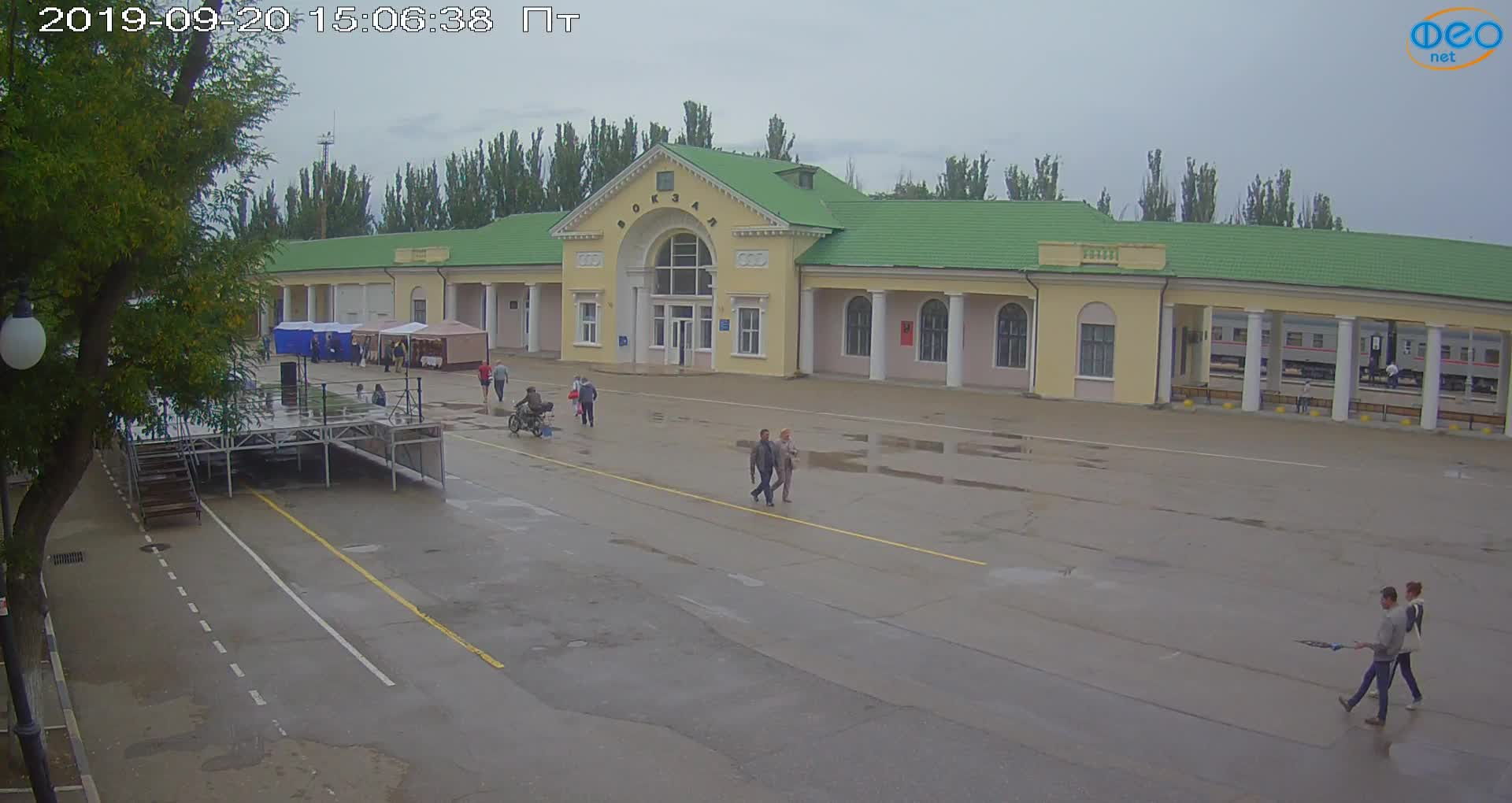 Веб-камеры Феодосии, Привокзальная площадь, 2019-09-20 15:23:12