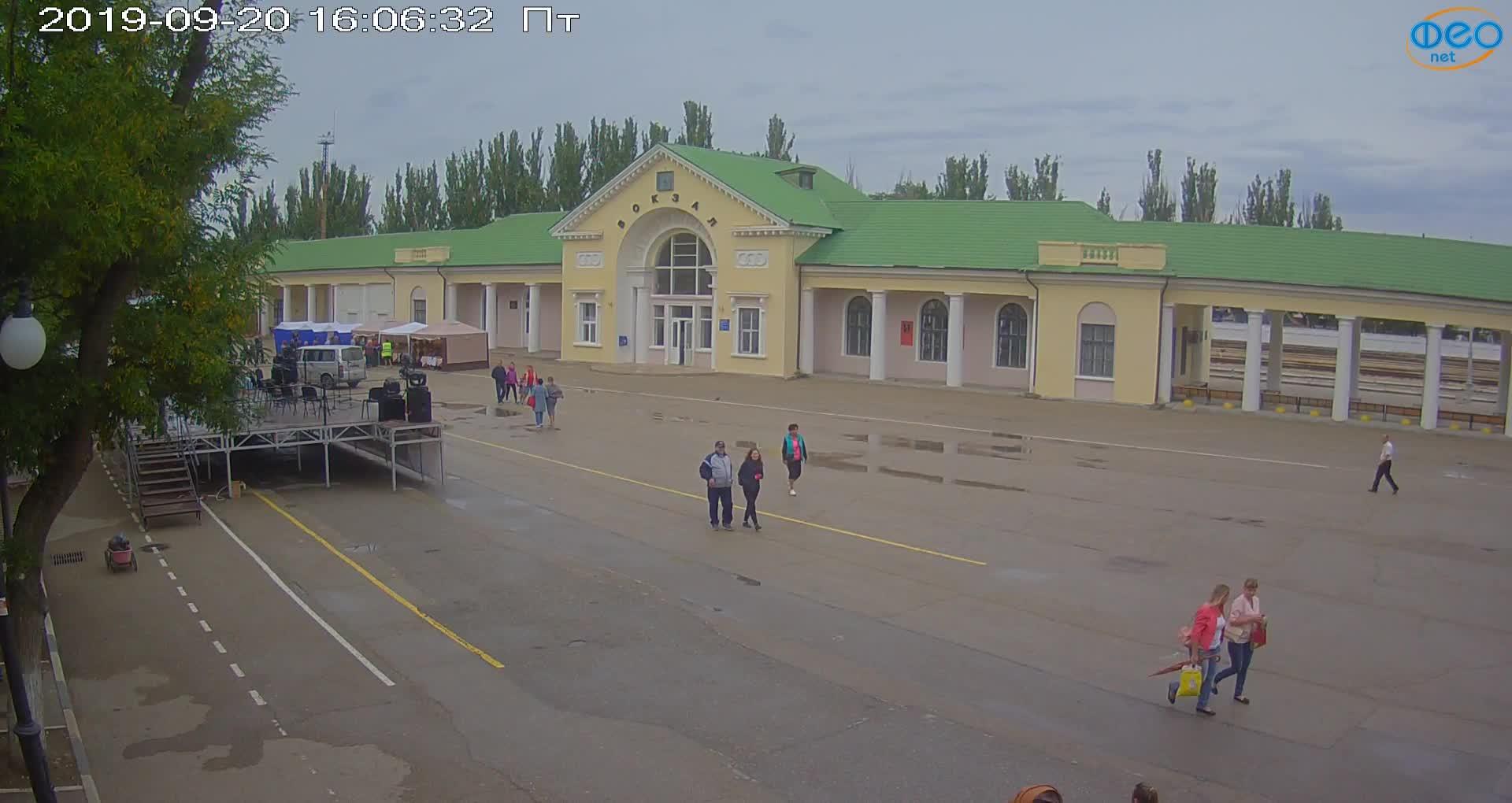 Веб-камеры Феодосии, Привокзальная площадь, 2019-09-20 16:23:07