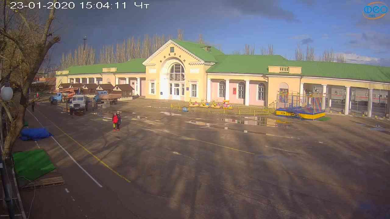 Веб-камеры Феодосии, Привокзальная площадь, 2020-01-23 15:05:11