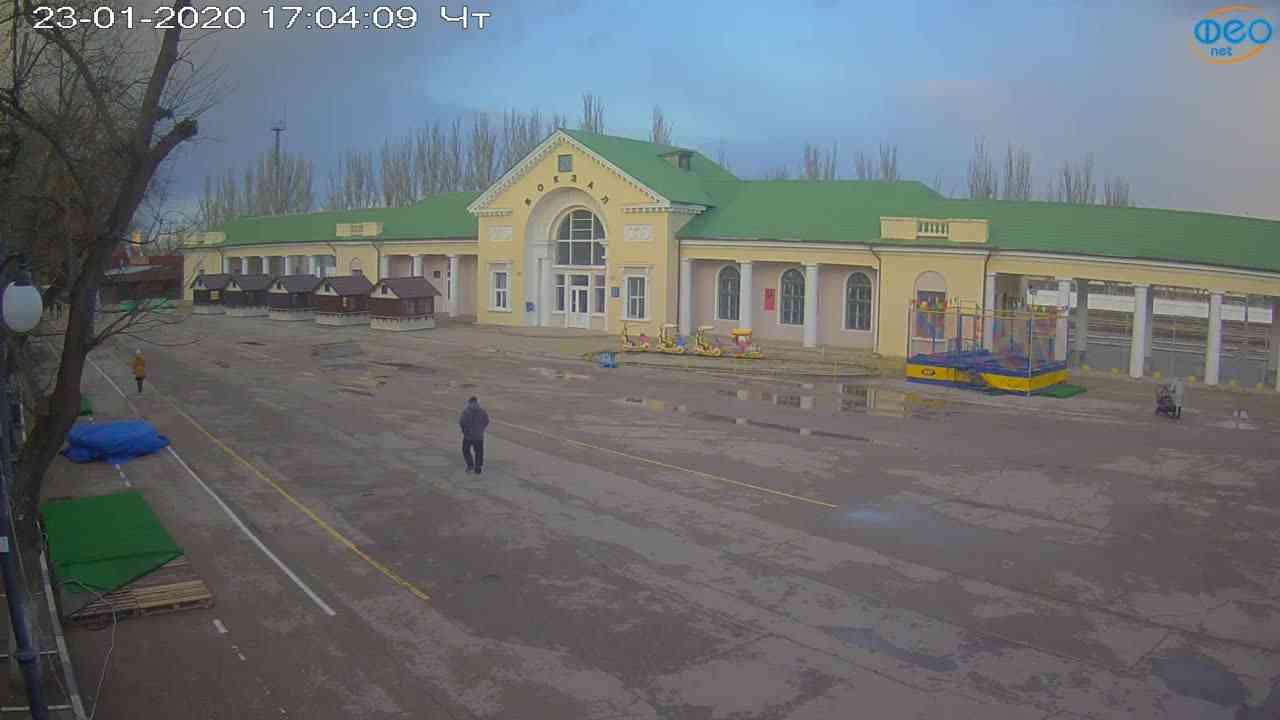 Веб-камеры Феодосии, Привокзальная площадь, 2020-01-23 17:05:11