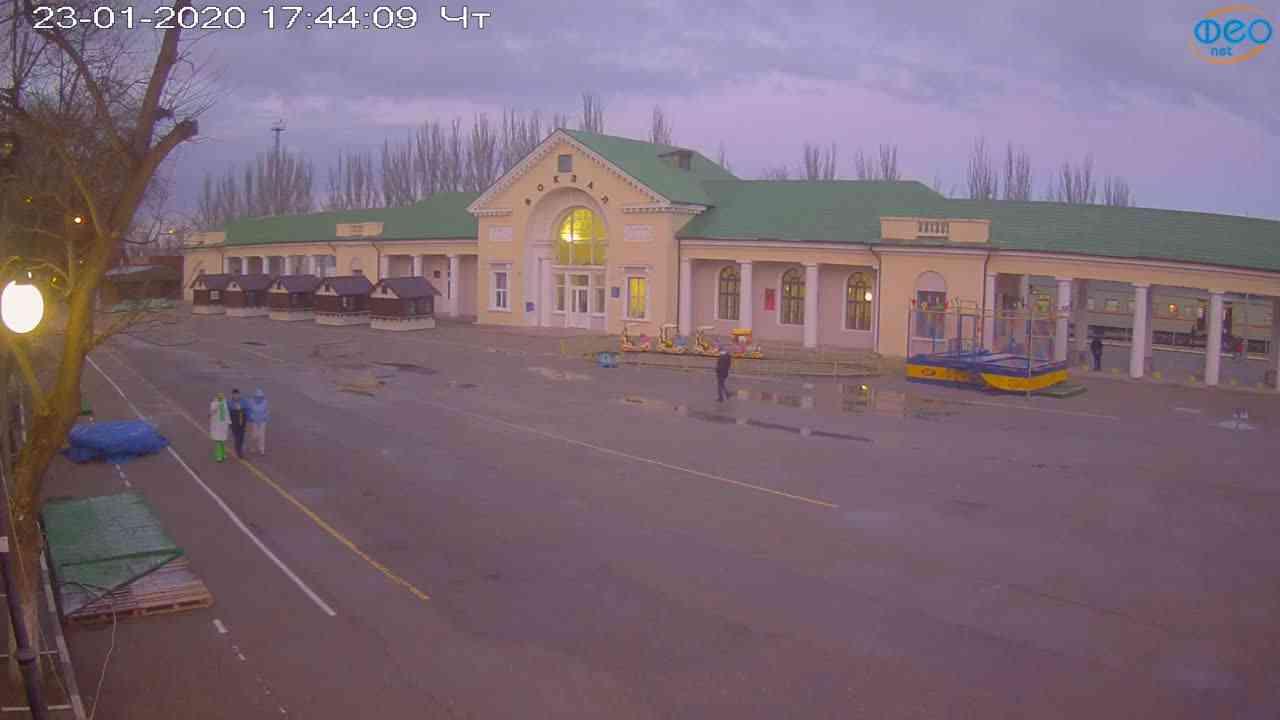 Веб-камеры Феодосии, Привокзальная площадь, 2020-01-23 17:45:08