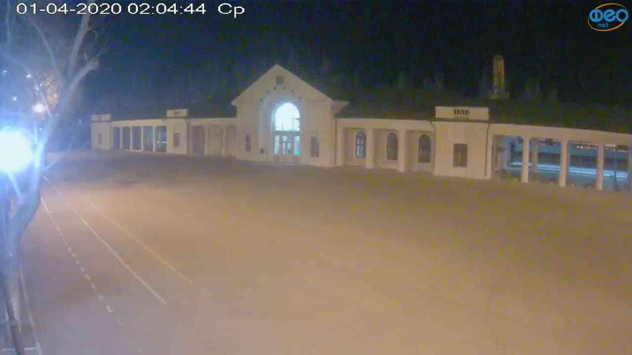 Веб-камеры Феодосии, Привокзальная площадь, 2020-04-01 02:05:06