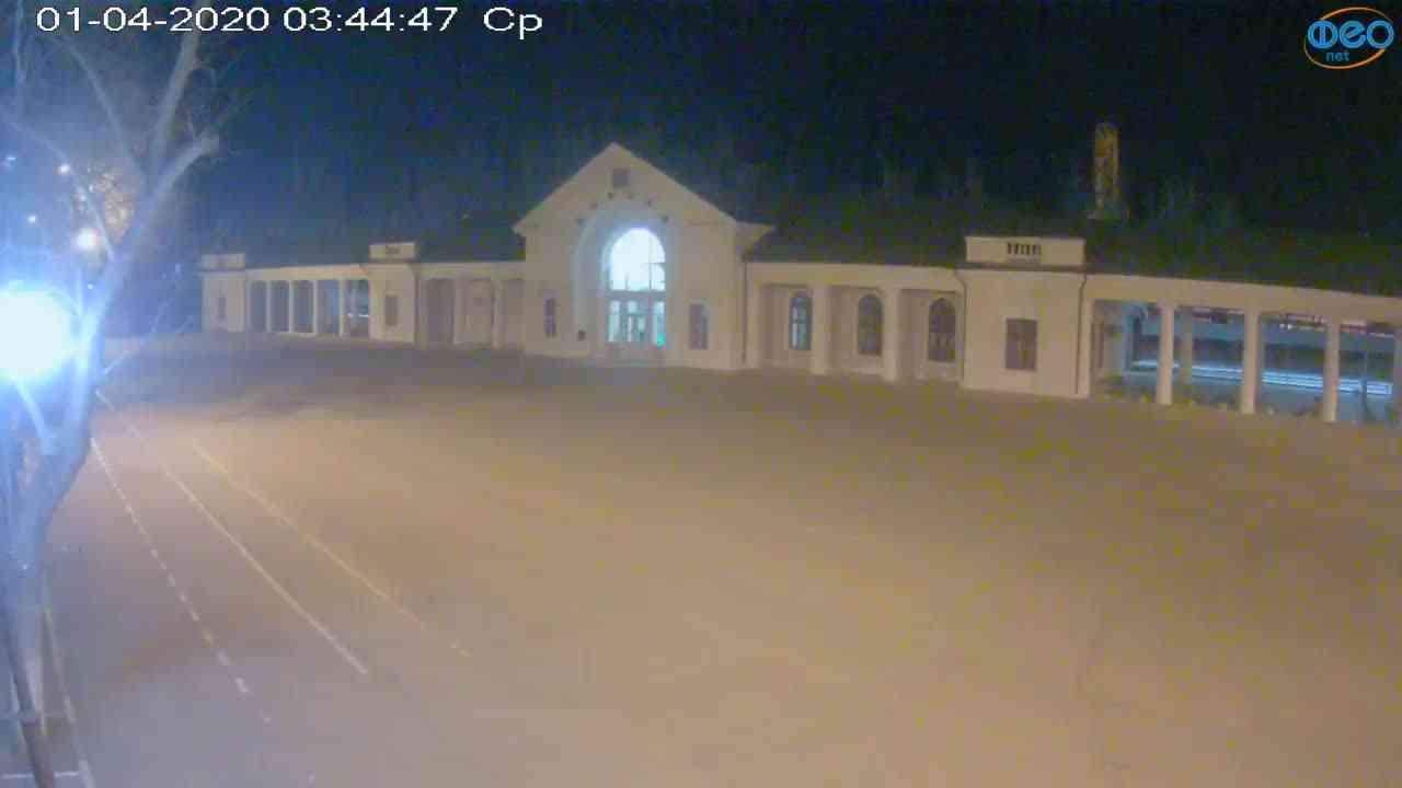 Веб-камеры Феодосии, Привокзальная площадь, 2020-04-01 03:45:08