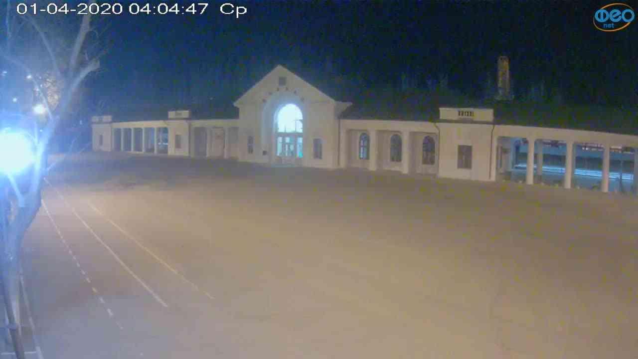Веб-камеры Феодосии, Привокзальная площадь, 2020-04-01 04:05:08