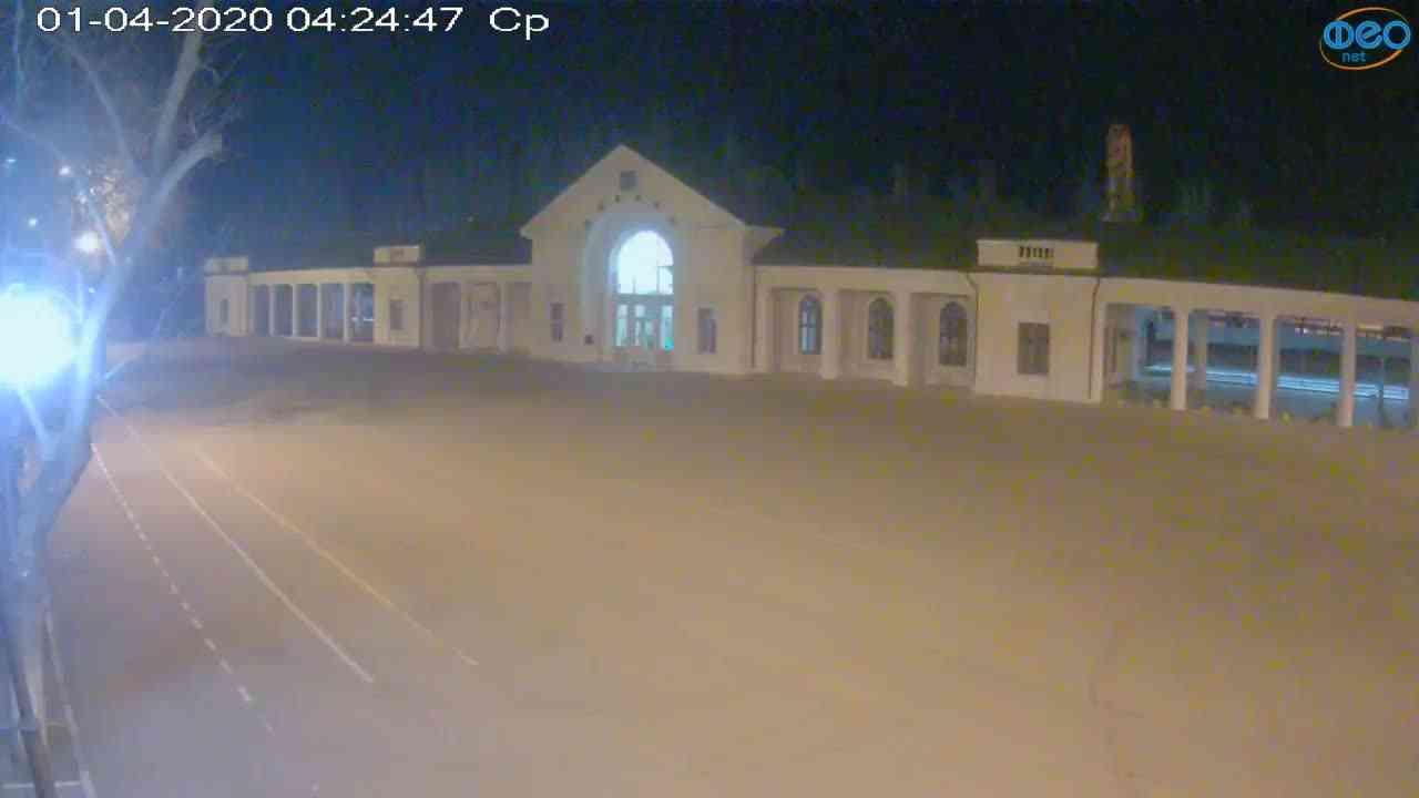 Веб-камеры Феодосии, Привокзальная площадь, 2020-04-01 04:25:08