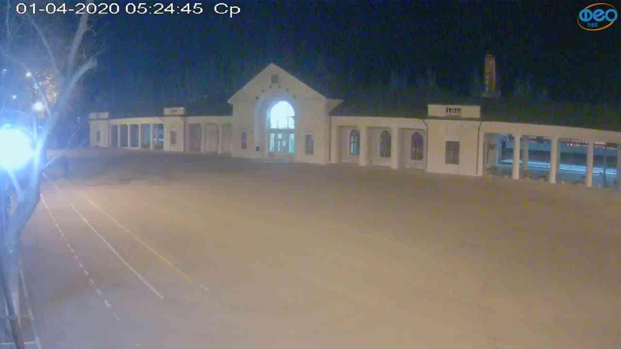 Веб-камеры Феодосии, Привокзальная площадь, 2020-04-01 05:25:07