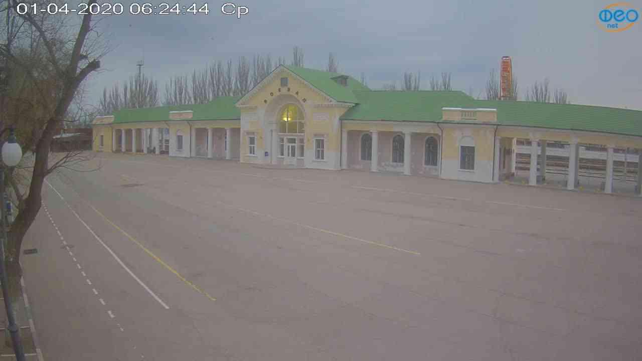 Веб-камеры Феодосии, Привокзальная площадь, 2020-04-01 06:25:06