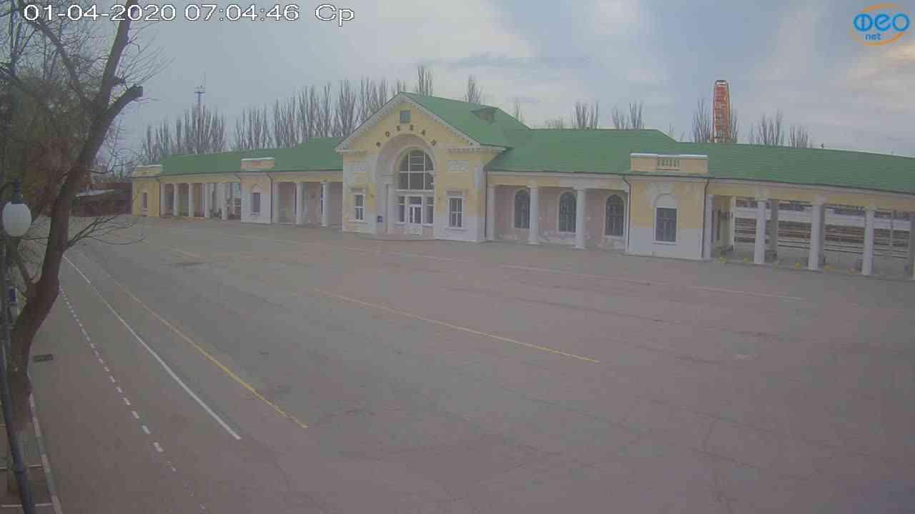 Веб-камеры Феодосии, Привокзальная площадь, 2020-04-01 07:05:07