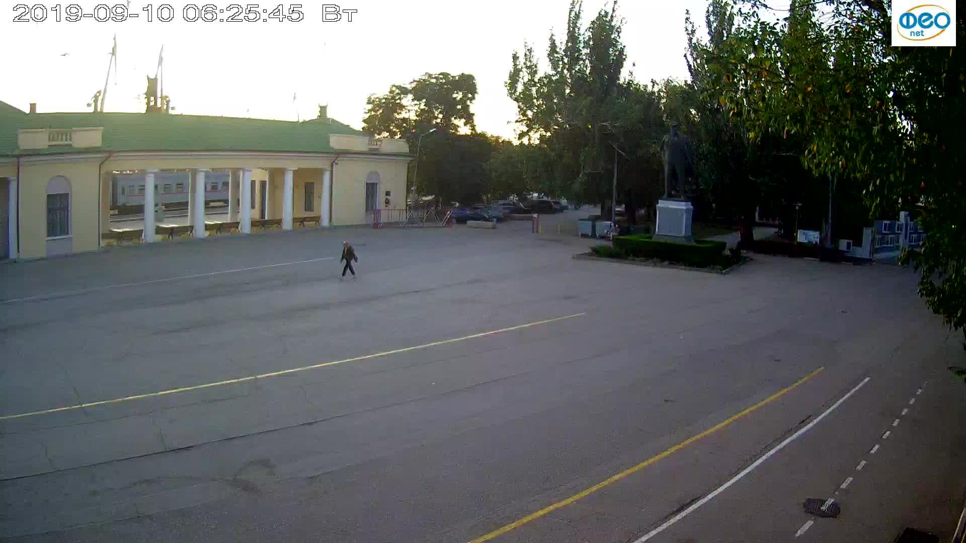 Веб-камеры Феодосии, Привокзальная площадь 2, 2019-09-10 06:13:09