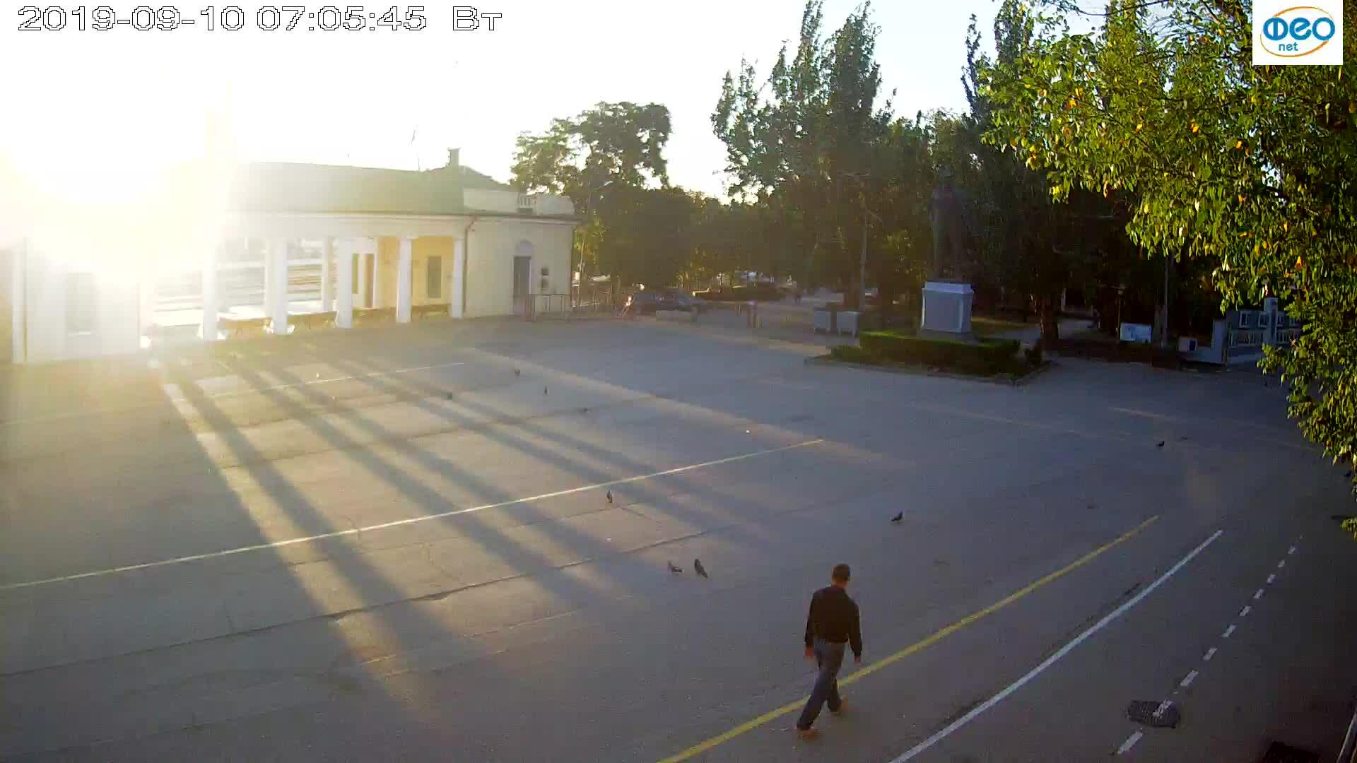 Веб-камеры Феодосии, Привокзальная площадь 2, 2019-09-10 06:53:08