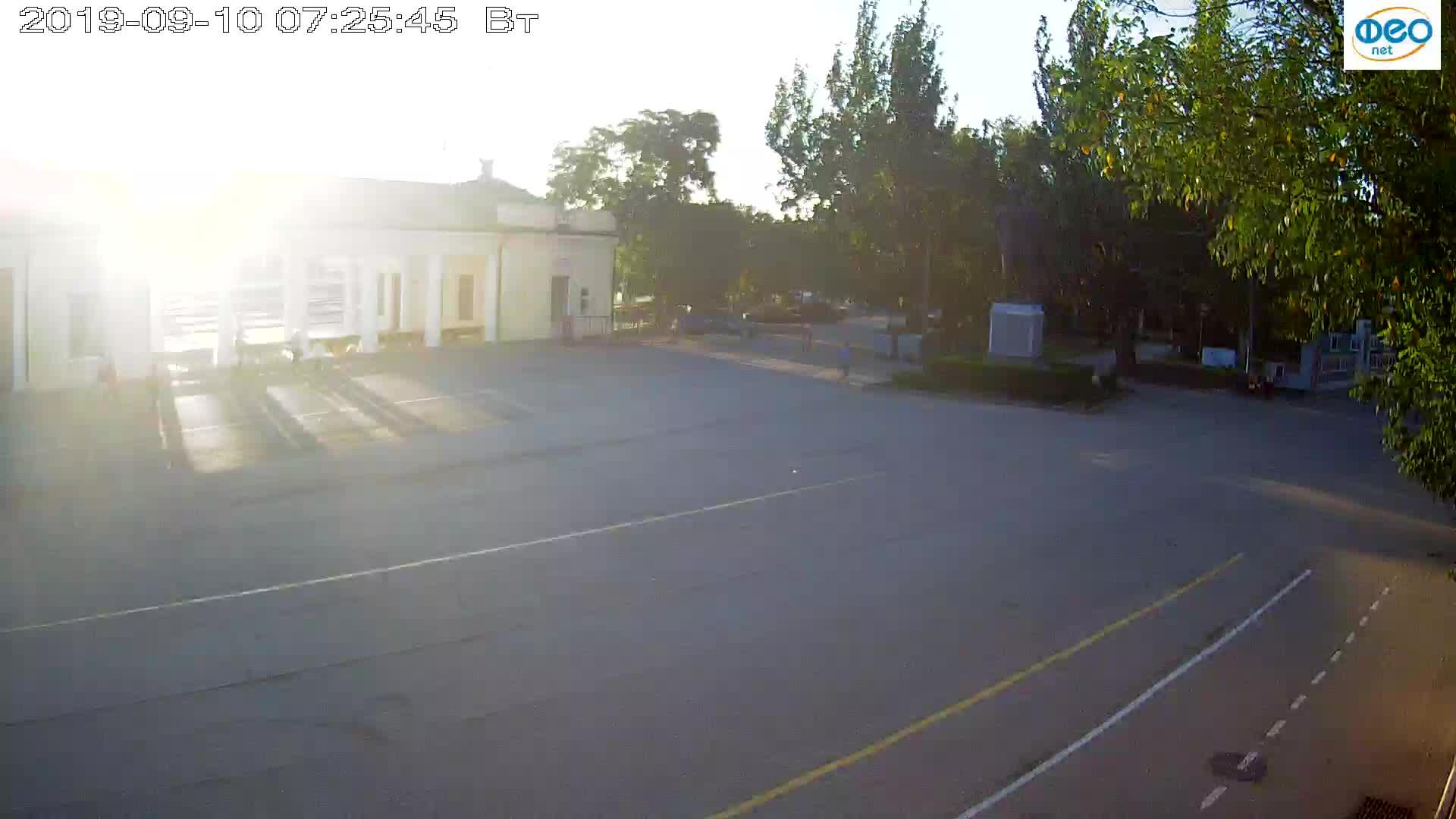 Веб-камеры Феодосии, Привокзальная площадь 2, 2019-09-10 07:13:11