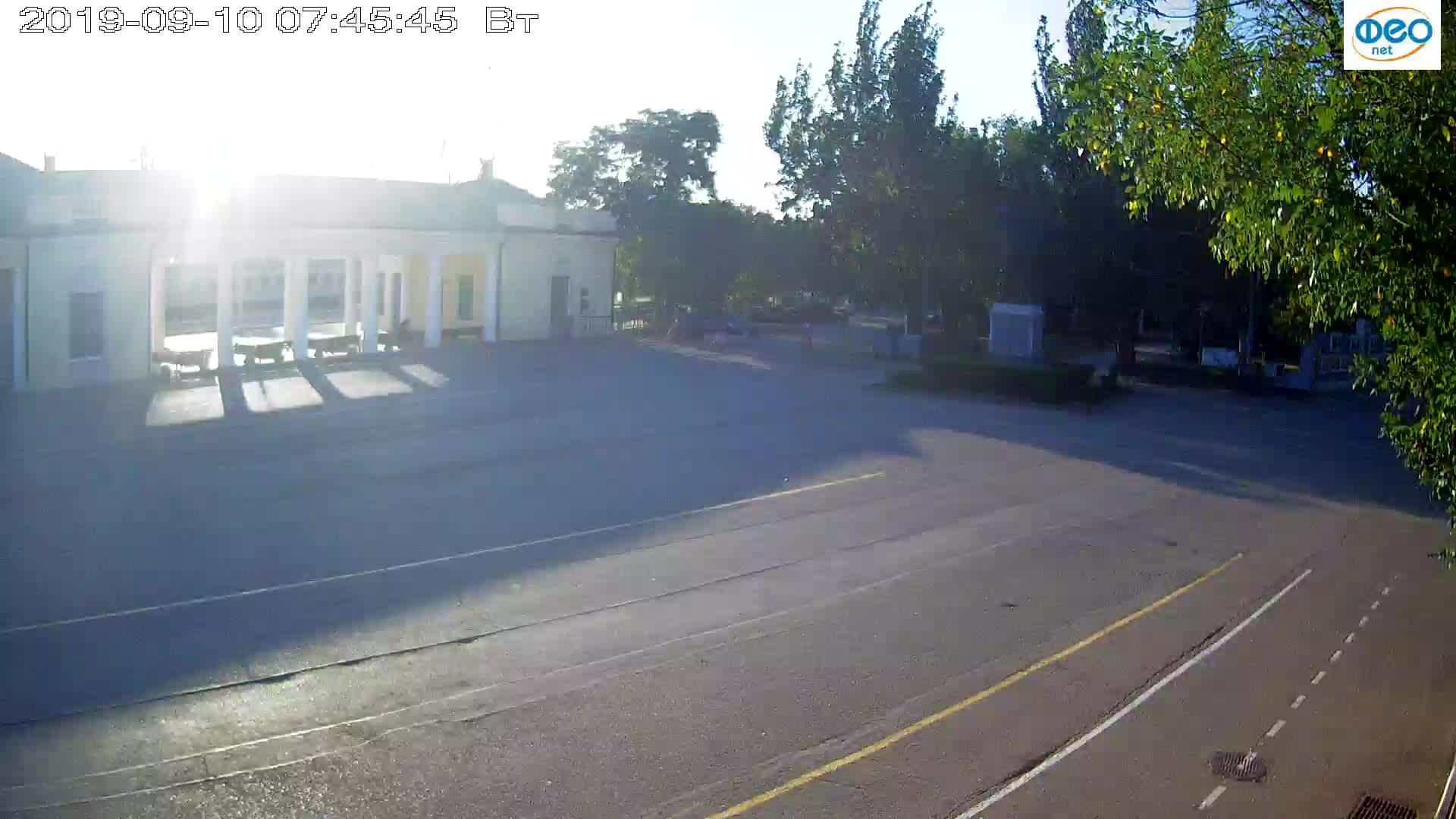 Веб-камеры Феодосии, Привокзальная площадь 2, 2019-09-10 07:33:09