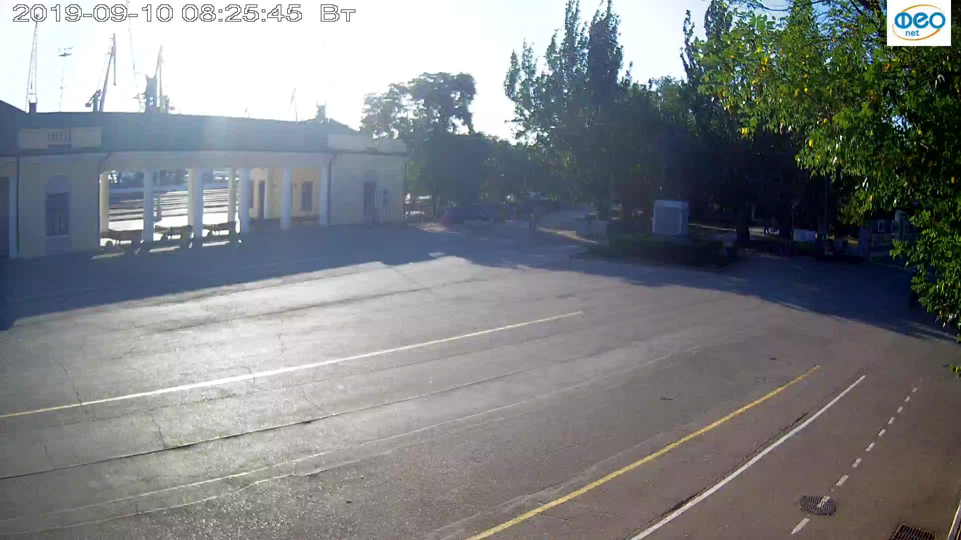 Веб-камеры Феодосии, Привокзальная площадь 2, 2019-09-10 08:13:09