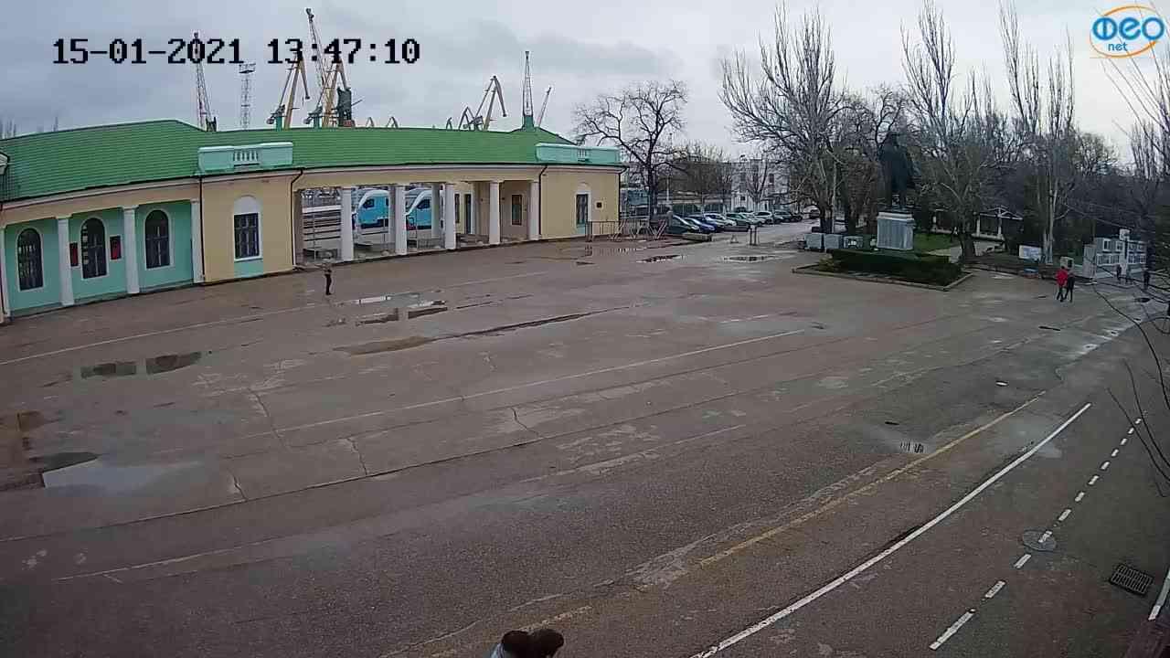 Веб-камеры Феодосии, Привокзальная площадь 2, 2021-01-15 13:47:18