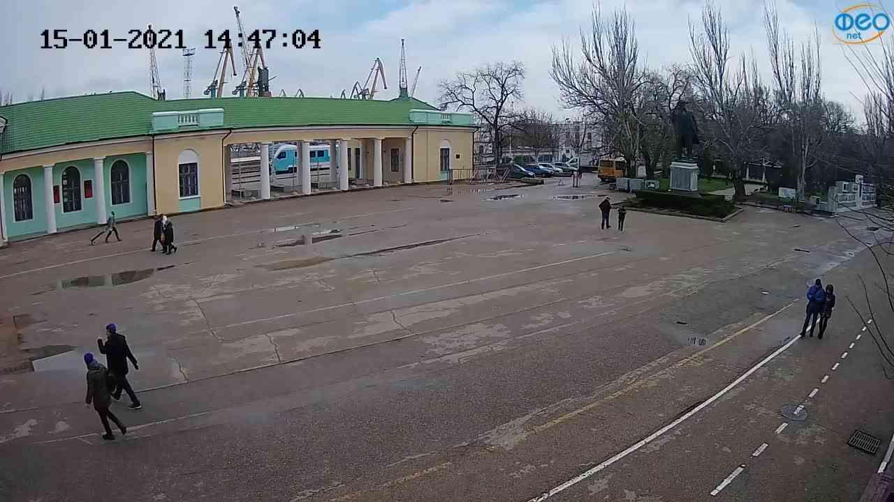 Веб-камеры Феодосии, Привокзальная площадь 2, 2021-01-15 14:47:16