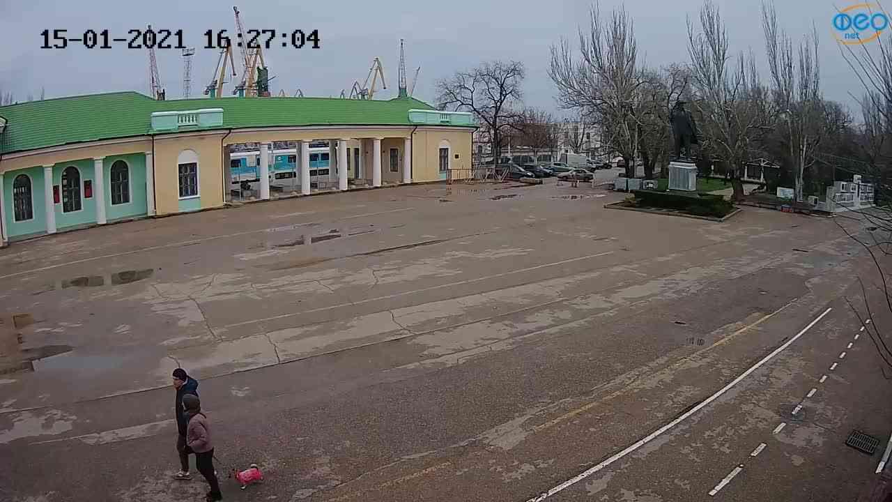 Веб-камеры Феодосии, Привокзальная площадь 2, 2021-01-15 16:27:15