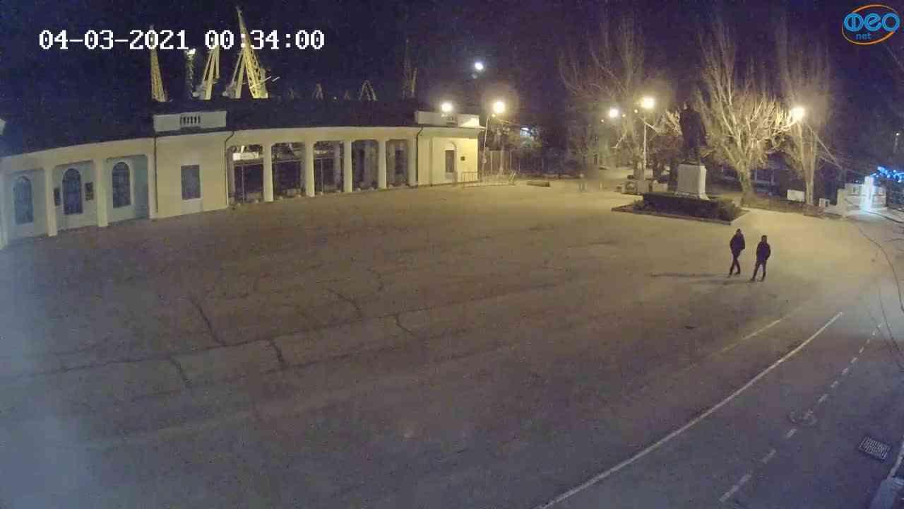 Веб-камеры Феодосии, Привокзальная площадь 2, 2021-03-04 00:34:09