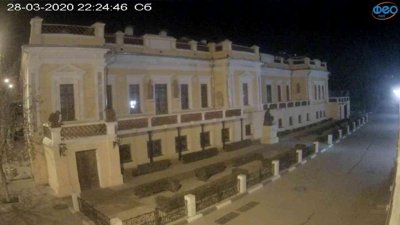Веб-камеры Феодосии, Памятник Айвазовскому, 2020-03-28 22:25:09