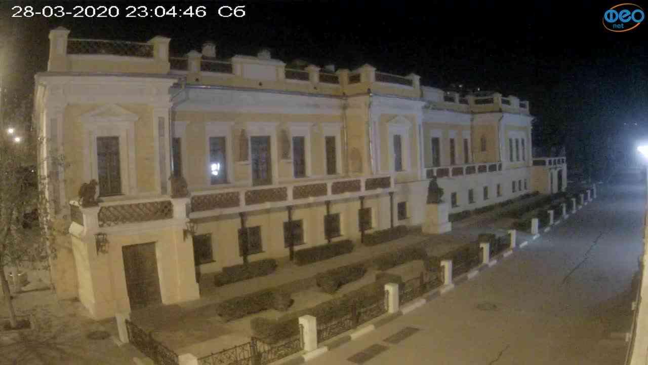 Веб-камеры Феодосии, Памятник Айвазовскому, 2020-03-28 23:05:09