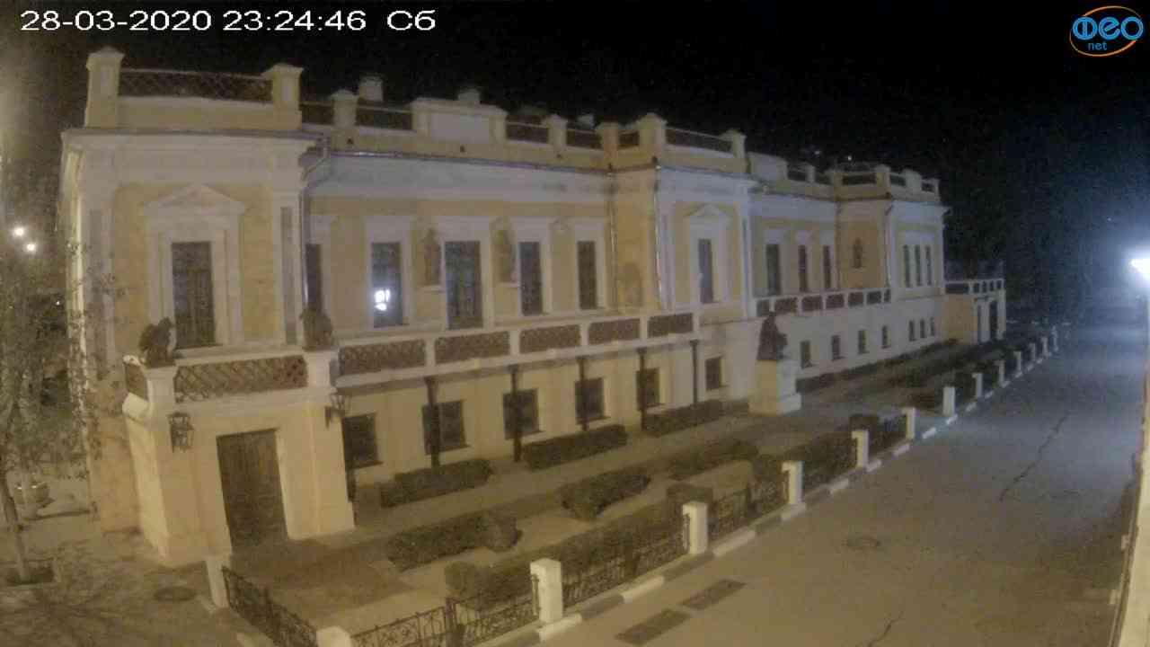 Веб-камеры Феодосии, Памятник Айвазовскому, 2020-03-28 23:25:10