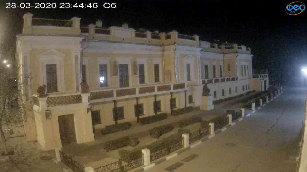 Веб-камеры Феодосии, Памятник Айвазовскому, 2020-03-28 23:45:10