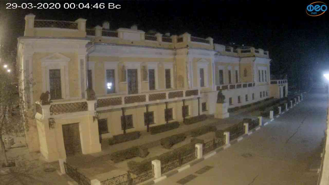 Веб-камеры Феодосии, Памятник Айвазовскому, 2020-03-29 00:05:10