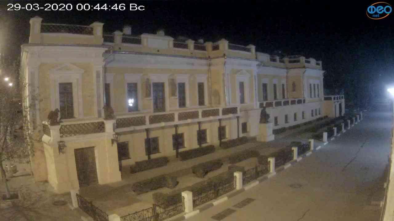 Веб-камеры Феодосии, Памятник Айвазовскому, 2020-03-29 00:45:09