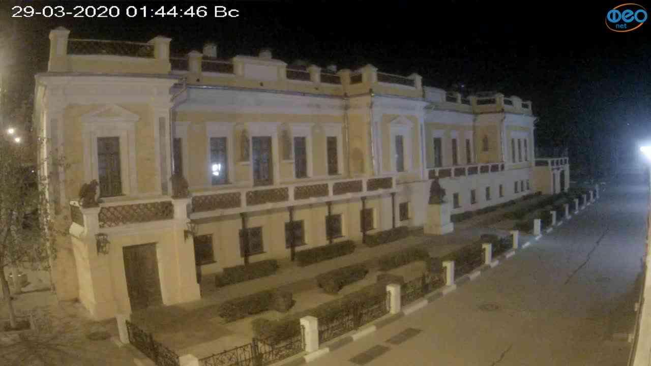 Веб-камеры Феодосии, Памятник Айвазовскому, 2020-03-29 01:45:10