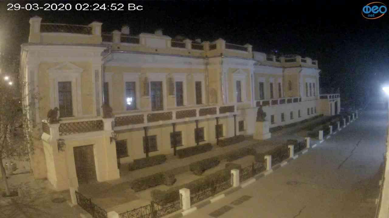 Веб-камеры Феодосии, Памятник Айвазовскому, 2020-03-29 02:25:15