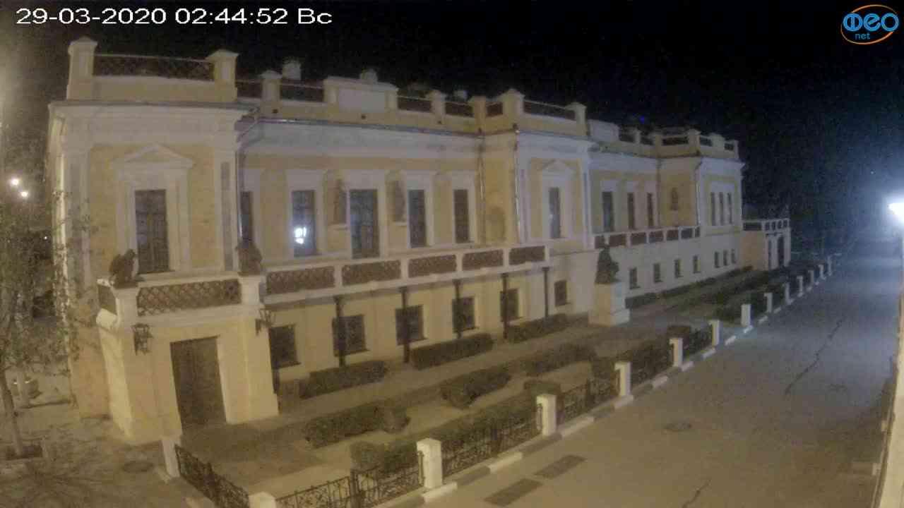 Веб-камеры Феодосии, Памятник Айвазовскому, 2020-03-29 02:45:12