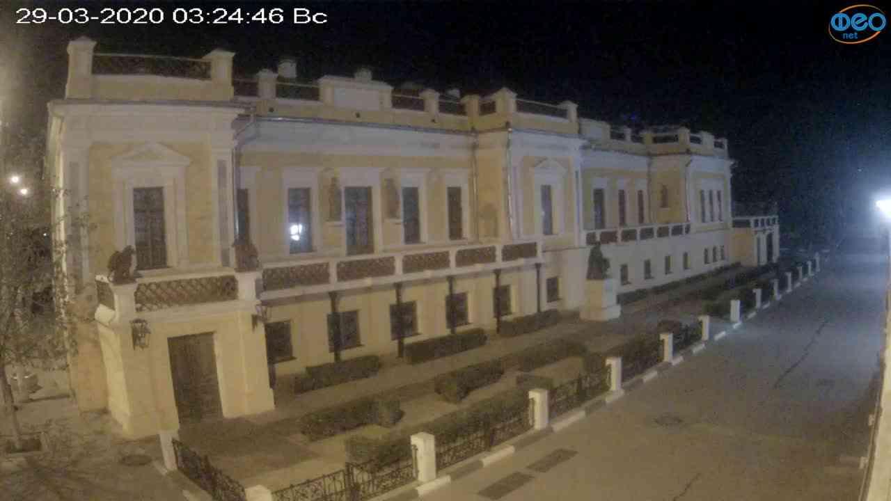 Веб-камеры Феодосии, Памятник Айвазовскому, 2020-03-29 03:25:10