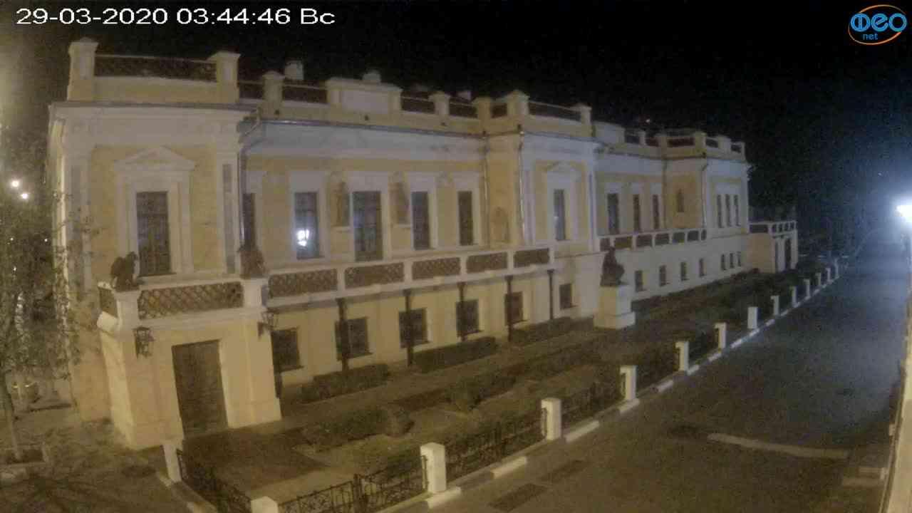 Веб-камеры Феодосии, Памятник Айвазовскому, 2020-03-29 03:45:09