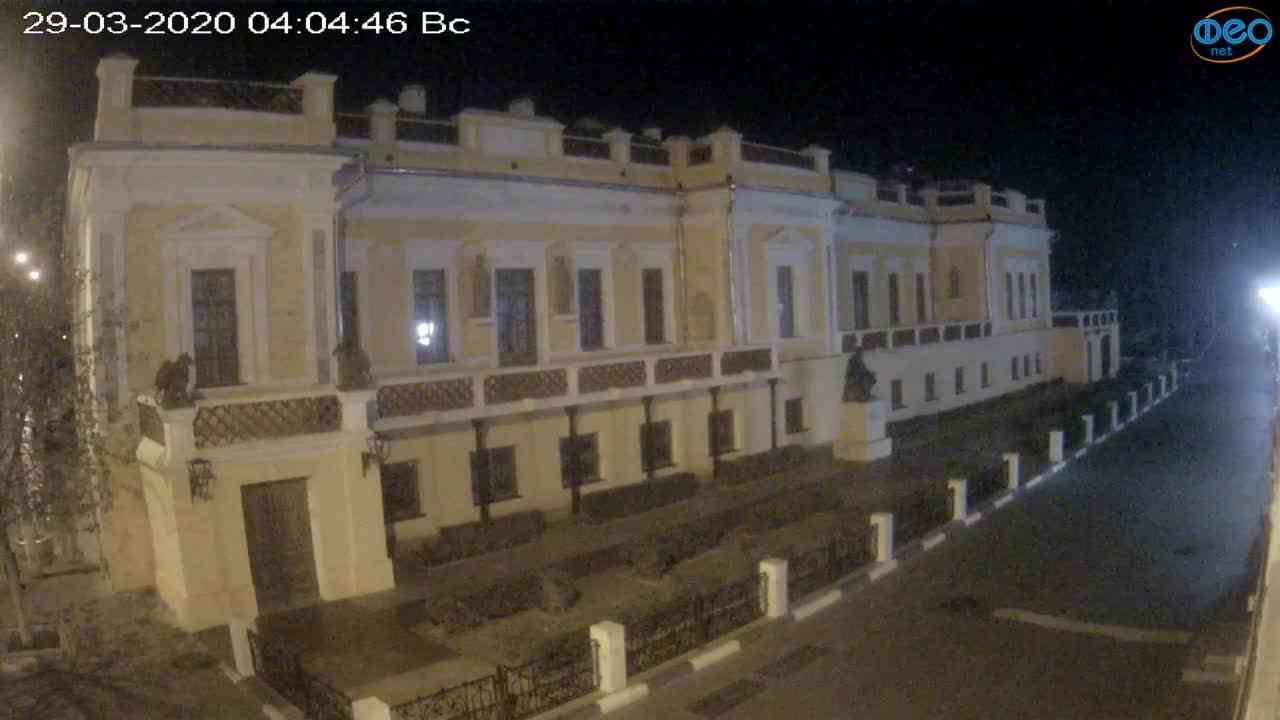 Веб-камеры Феодосии, Памятник Айвазовскому, 2020-03-29 04:05:09