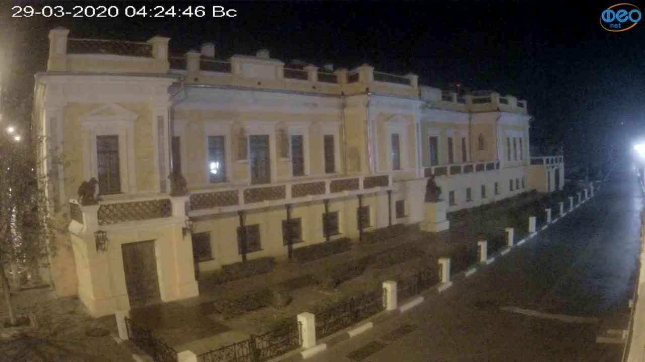 Веб-камеры Феодосии, Памятник Айвазовскому, 2020-03-29 04:25:09