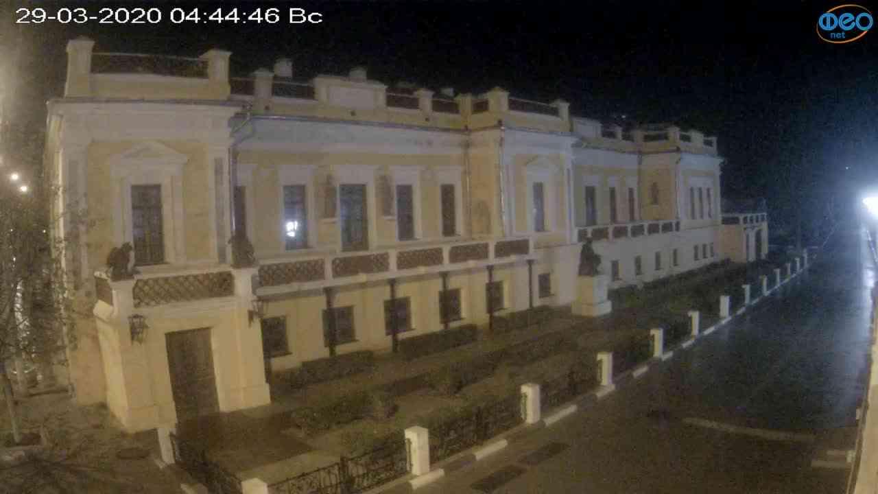 Веб-камеры Феодосии, Памятник Айвазовскому, 2020-03-29 04:45:08