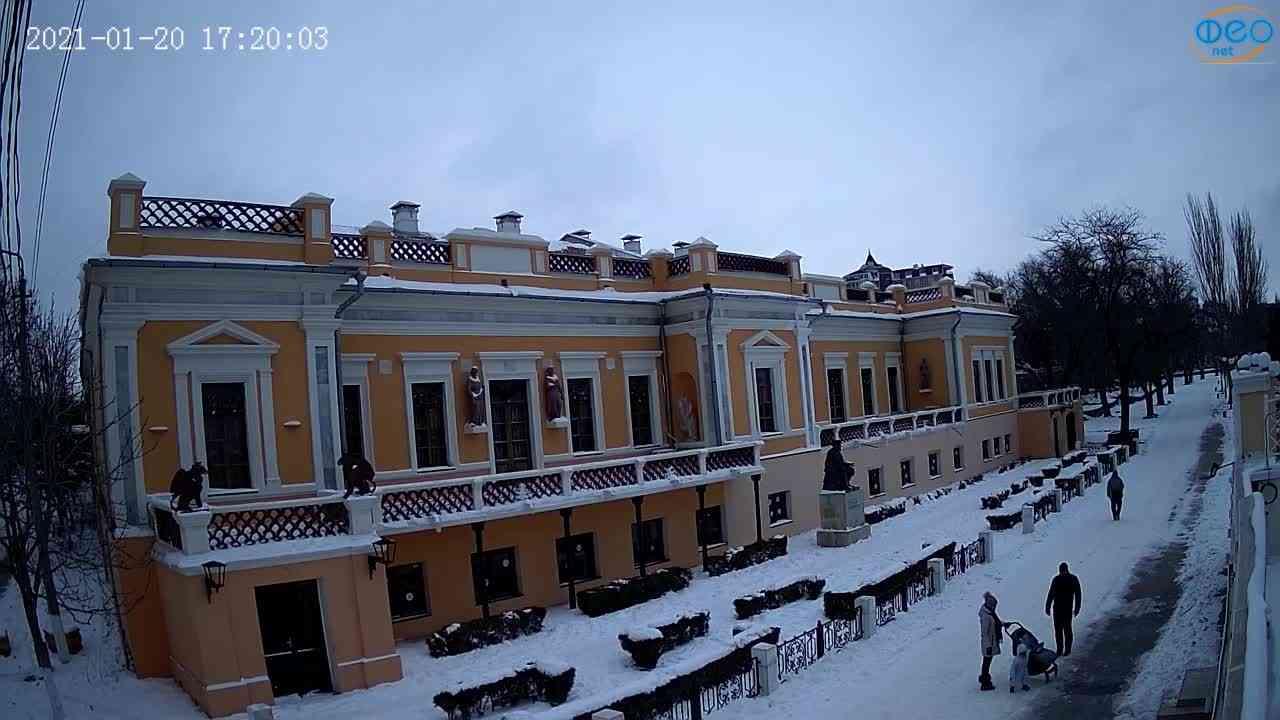 Веб-камеры Феодосии, Памятник Айвазовскому, 2021-01-20 17:20:12