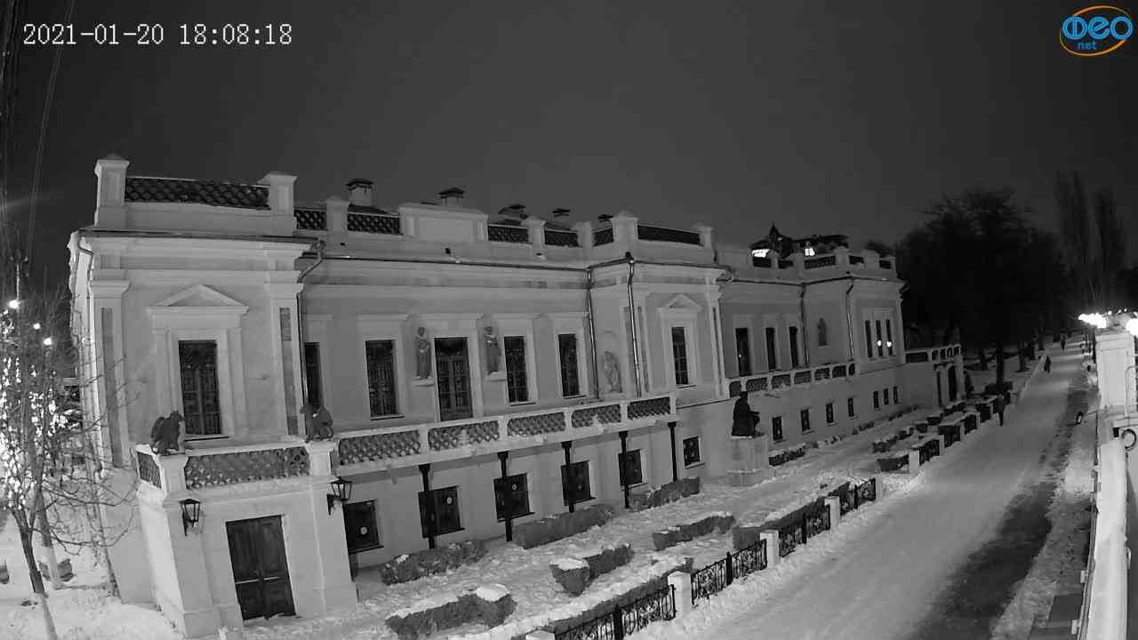 Веб-камеры Феодосии, Памятник Айвазовскому, 2021-01-20 18:08:26