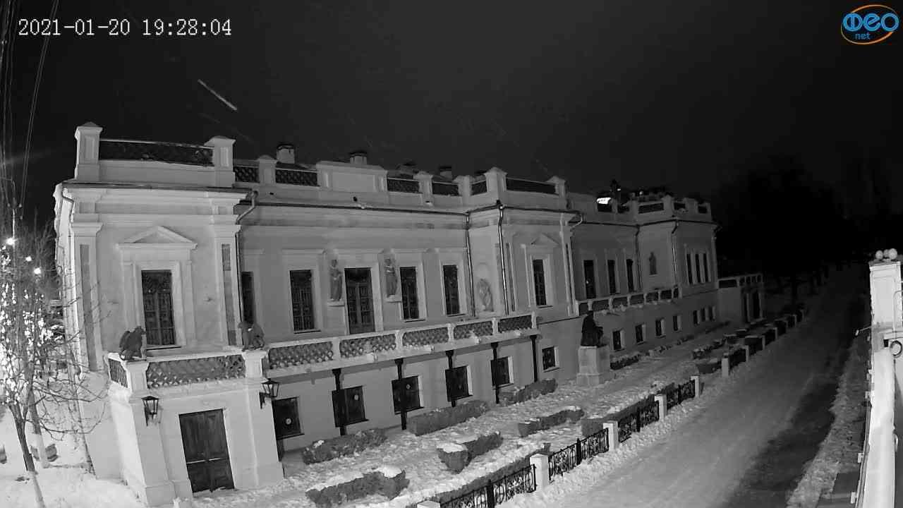 Веб-камеры Феодосии, Памятник Айвазовскому, 2021-01-20 19:28:12