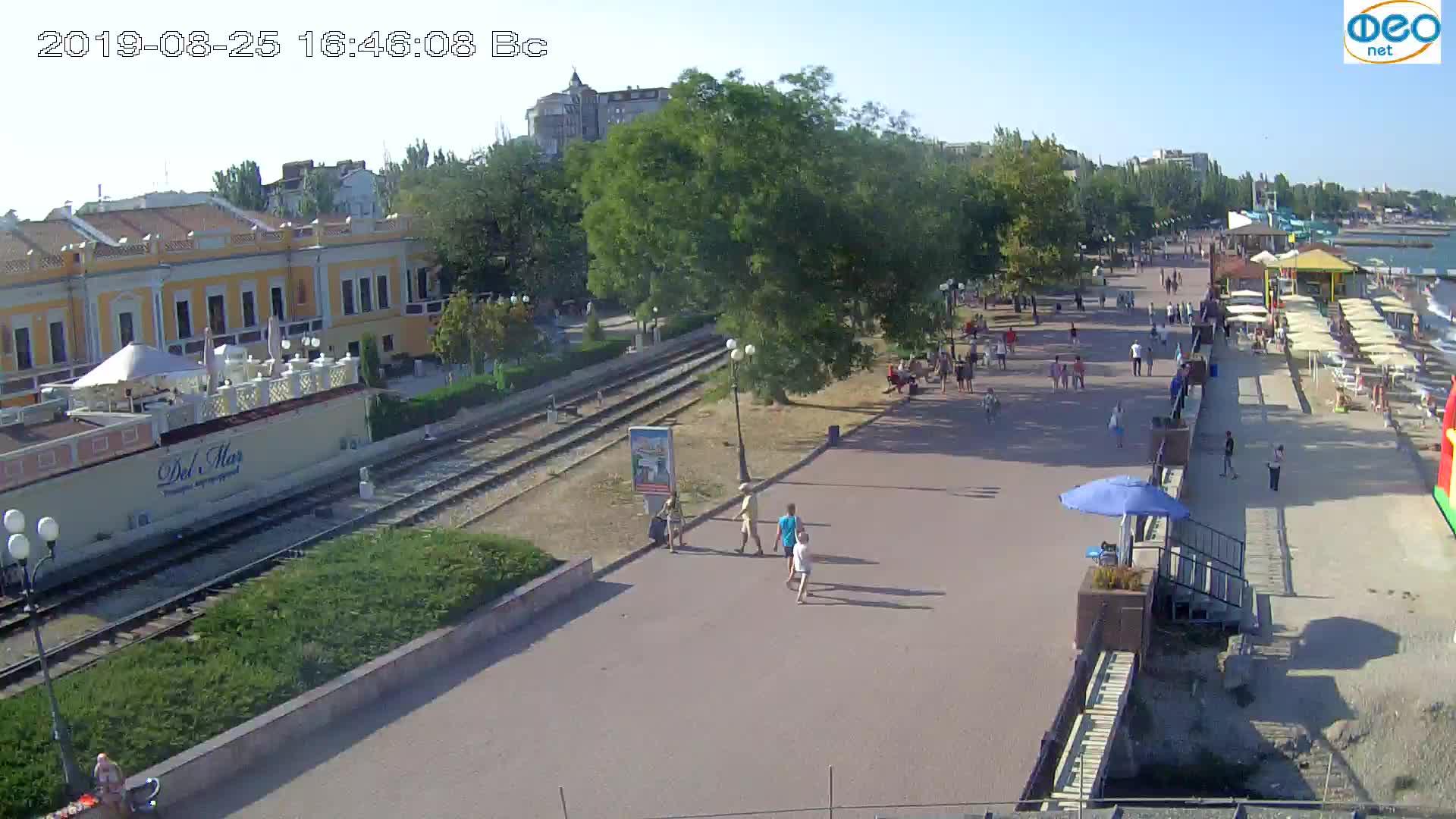 Веб-камеры Феодосии, Набережная, 2019-08-25 16:40:05