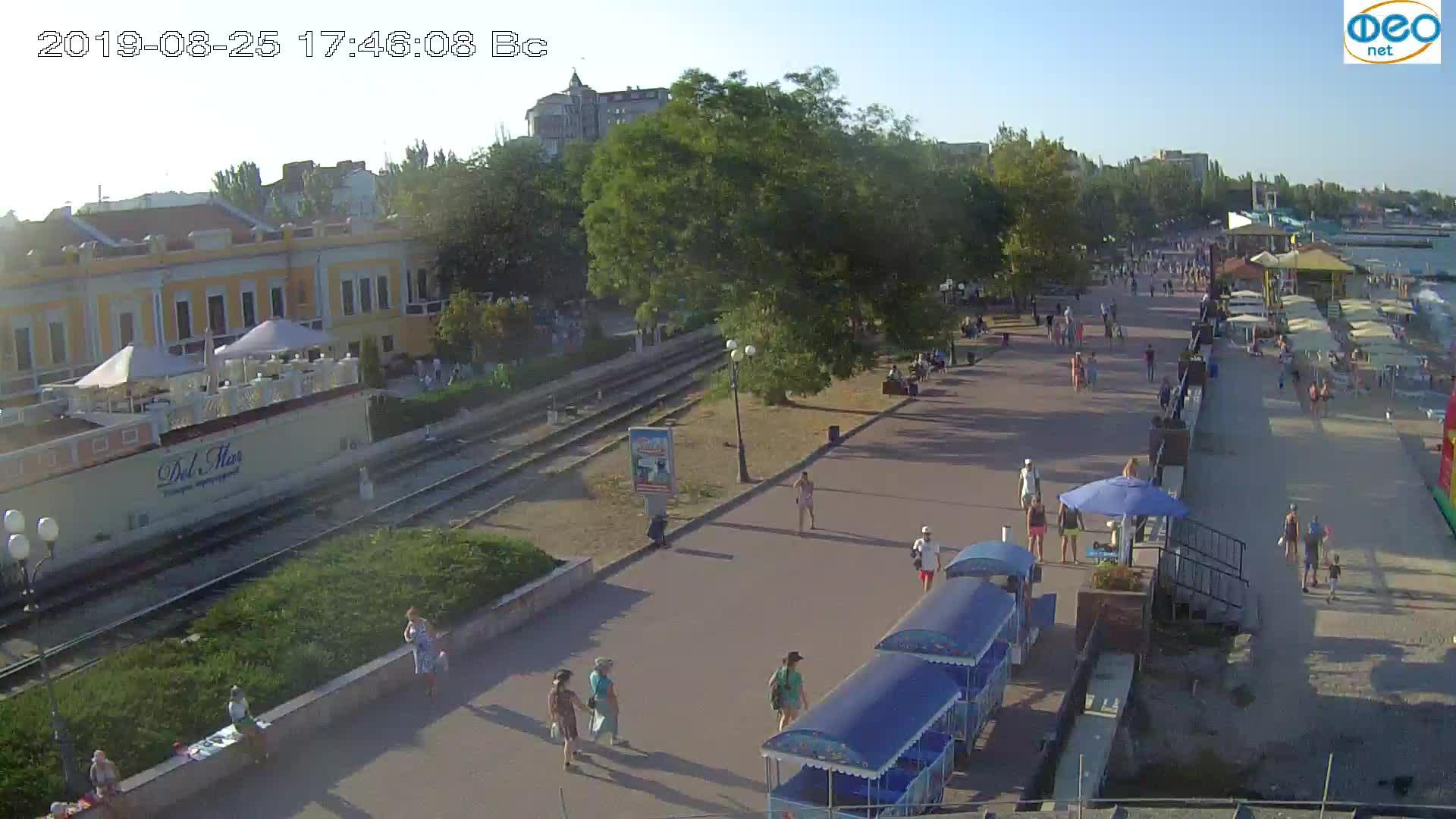 Веб-камеры Феодосии, Набережная, 2019-08-25 17:40:05