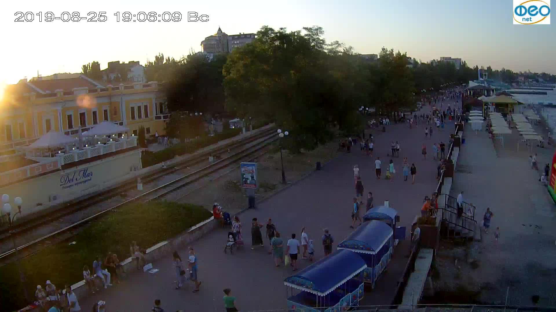 Веб-камеры Феодосии, Набережная, 2019-08-25 19:00:05