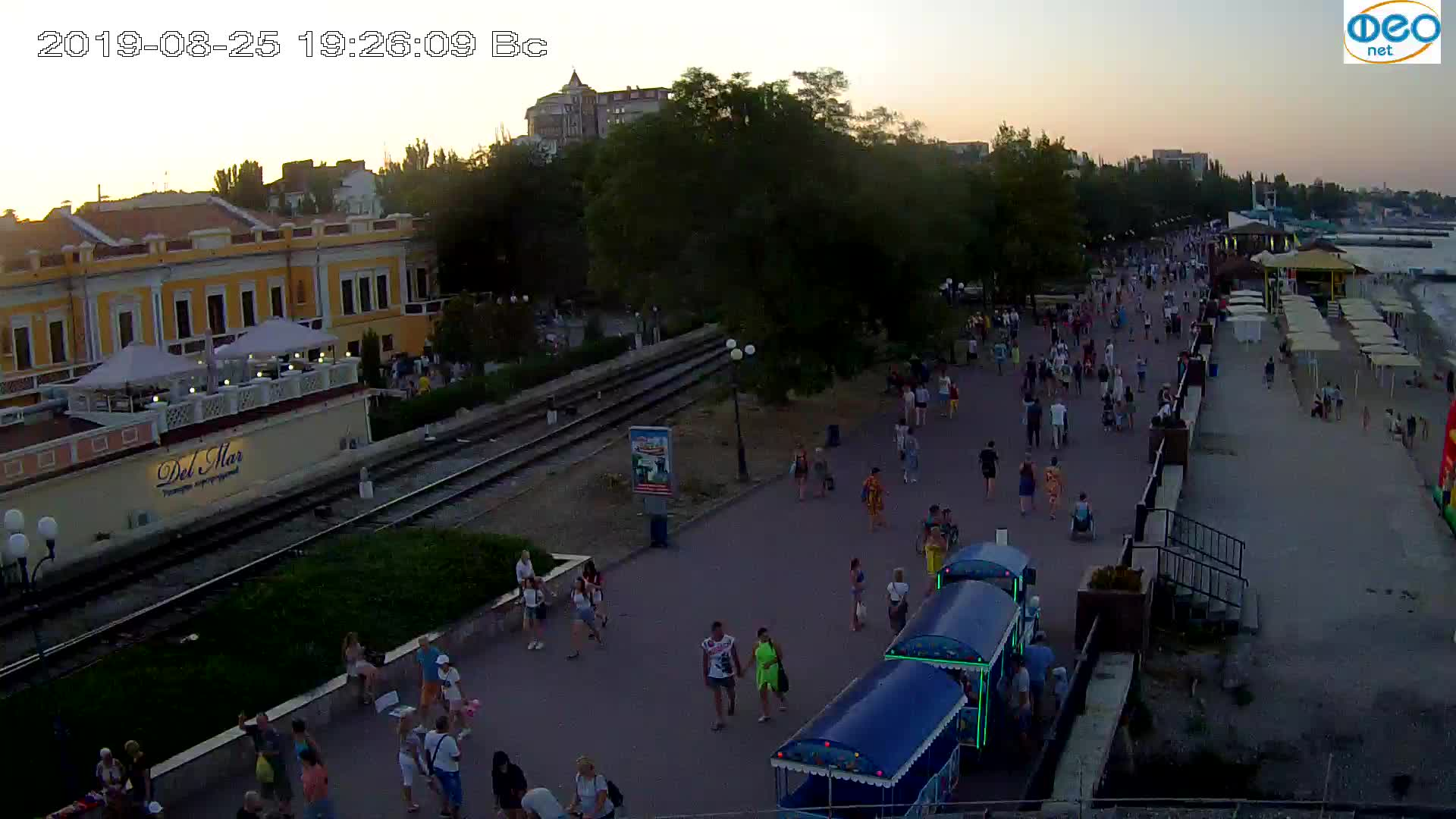 Веб-камеры Феодосии, Набережная, 2019-08-25 19:20:05