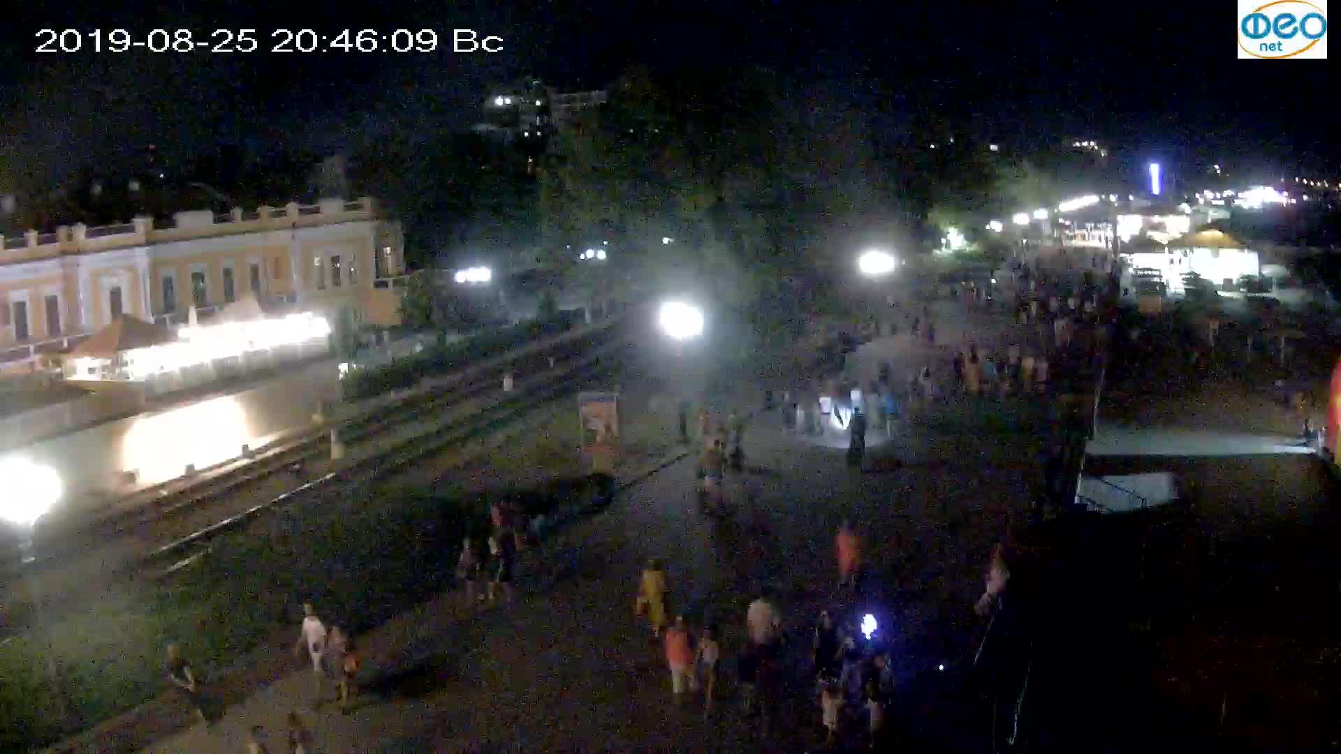 Веб-камеры Феодосии, Набережная, 2019-08-25 20:40:06