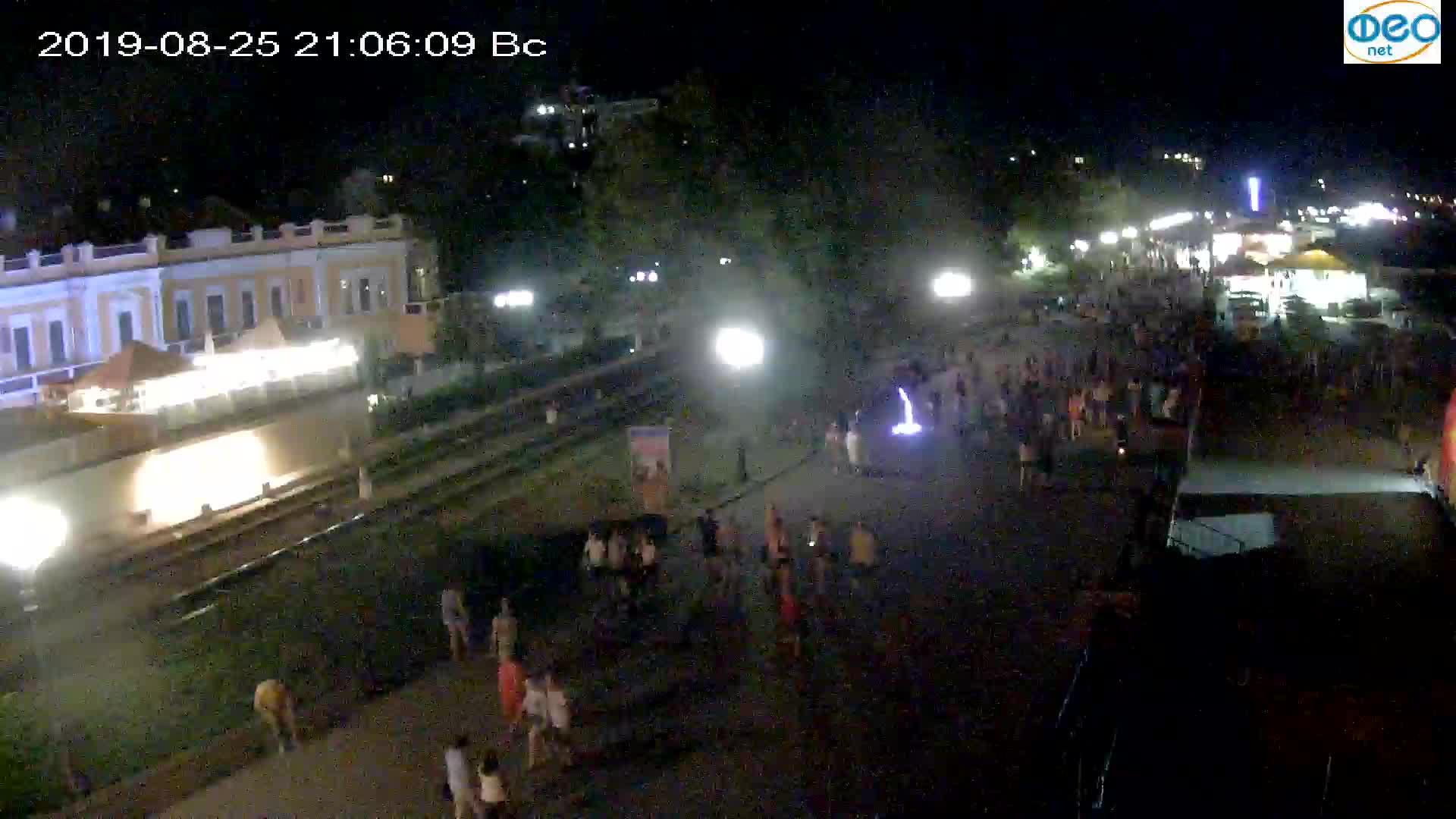 Веб-камеры Феодосии, Набережная, 2019-08-25 21:00:05