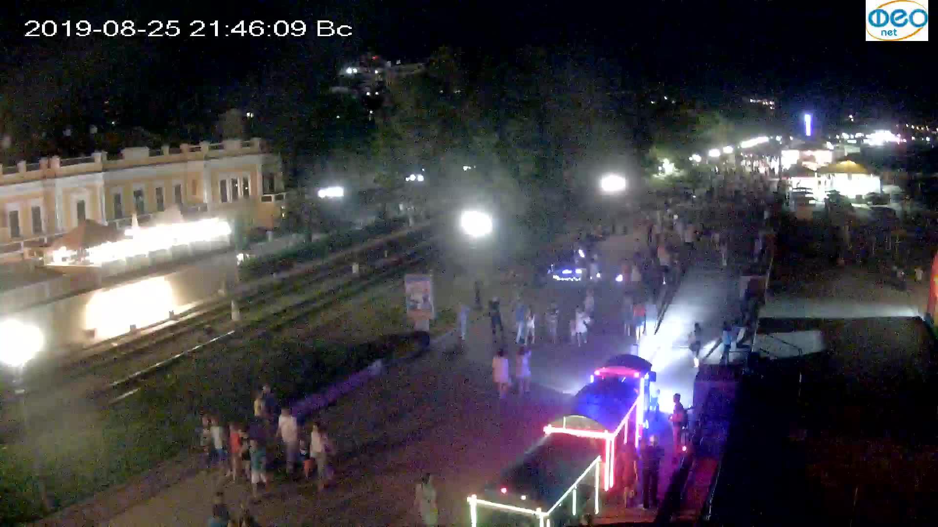 Веб-камеры Феодосии, Набережная, 2019-08-25 21:40:06