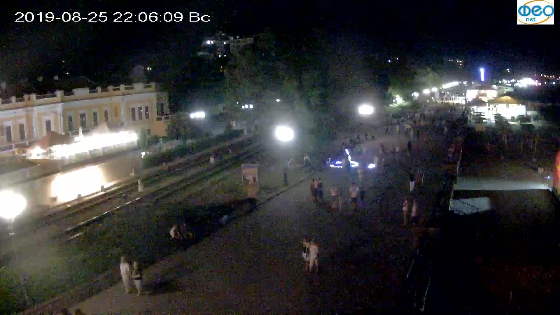 Веб-камеры Феодосии, Набережная, 2019-08-25 22:00:05