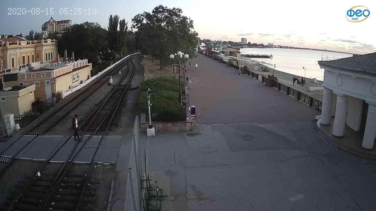 Веб-камеры Феодосии, Набережная, 2020-08-15 05:25:21