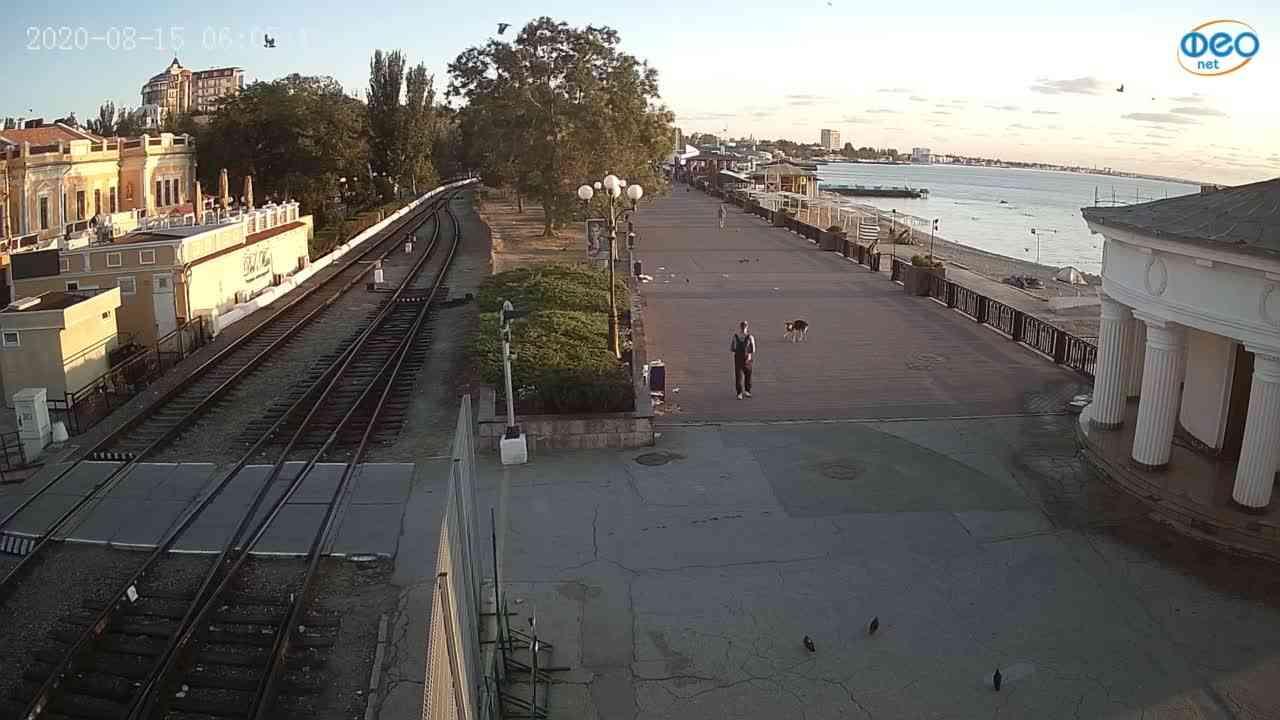 Веб-камеры Феодосии, Набережная, 2020-08-15 06:05:19