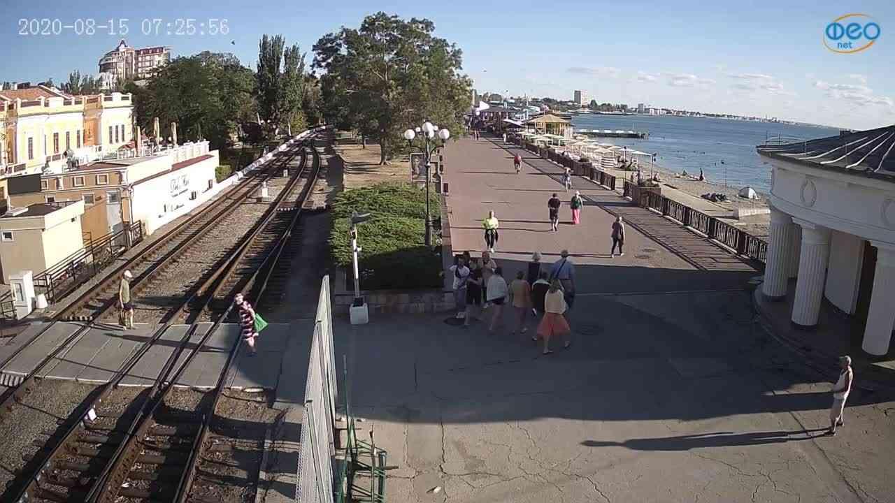 Веб-камеры Феодосии, Набережная, 2020-08-15 07:26:08